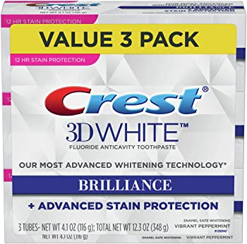 3-Pack Crest 3D White Brilliance Vibrant Peppermint Toothpaste