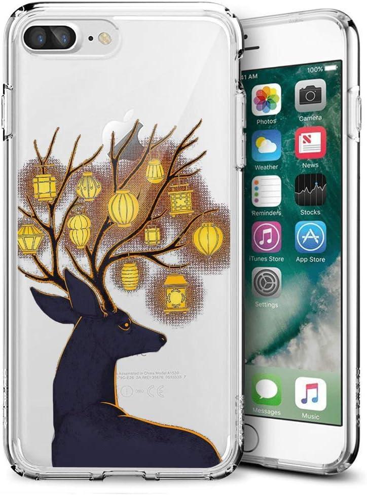 Amazon Com Deer Antler Lantern Transparent Clear Case For Iphone