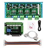 SainSmart CNC Router 4 Axis Kit, TB6600 4 Axis 4.5A Stepper Motor Driver Board, Mach3 5 Axis Breakout Board