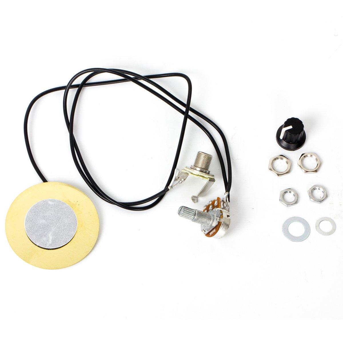 Pickup Piezo Transducer For Acoustic Guitar Violin Ukulele Mandolin Cig Box Parts Replacement 5 Pcs Kmise MI0860-5-KUS