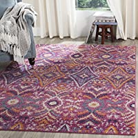 Safavieh Madison Collection MAD610M Bohemian Fuchsia and Multi Area Rug (8 x 10)