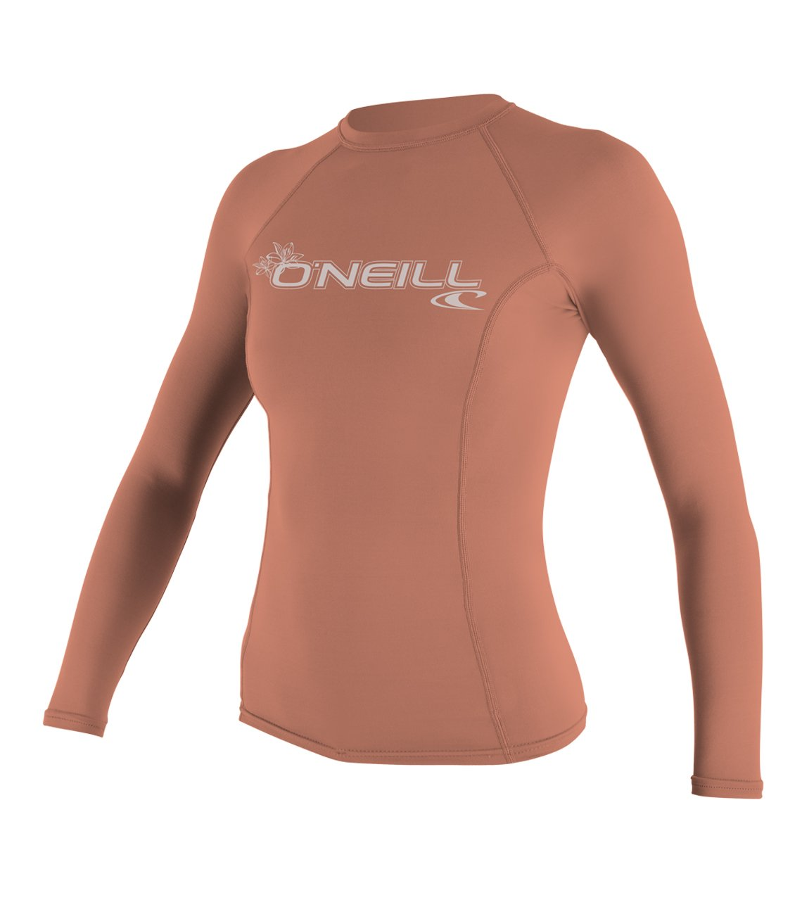 Light Grapefruit O'Neill Women's Hybrid UPF 50+ Long Sleeve Rash Guard