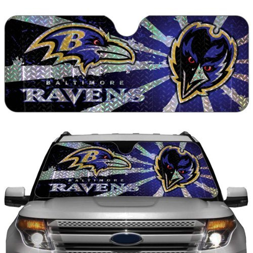 NFL Auto Sun Shade NFL Team: Baltimore Ravens