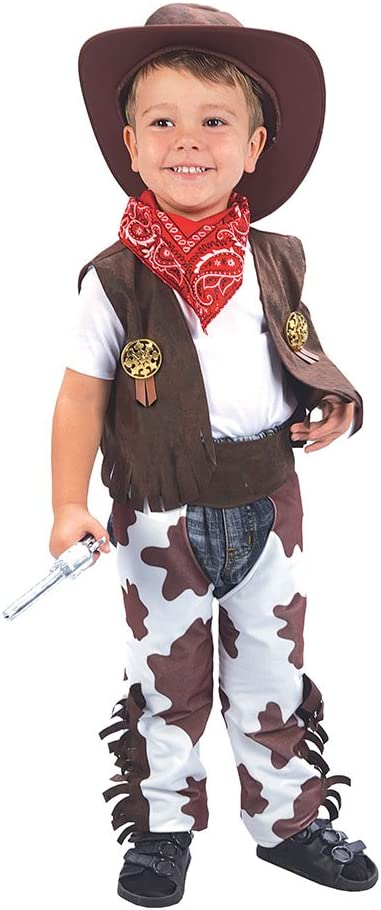 Boys Cowboy Toddler Fancy Dress Halloween Party  Costume Age 3-4 years old