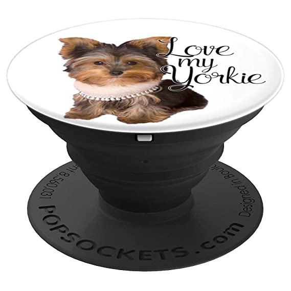 Amazoncom Cute Yorkie Yorkshire Terrier Popsockets Grip And