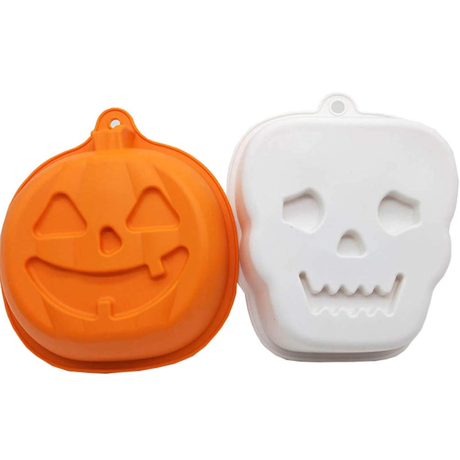 Silicone Baking Pans Molds Cake - Bundt Cake Skull Halloween Pumpkin Cakelet Pan Nonstick,Ice Molds Silicone