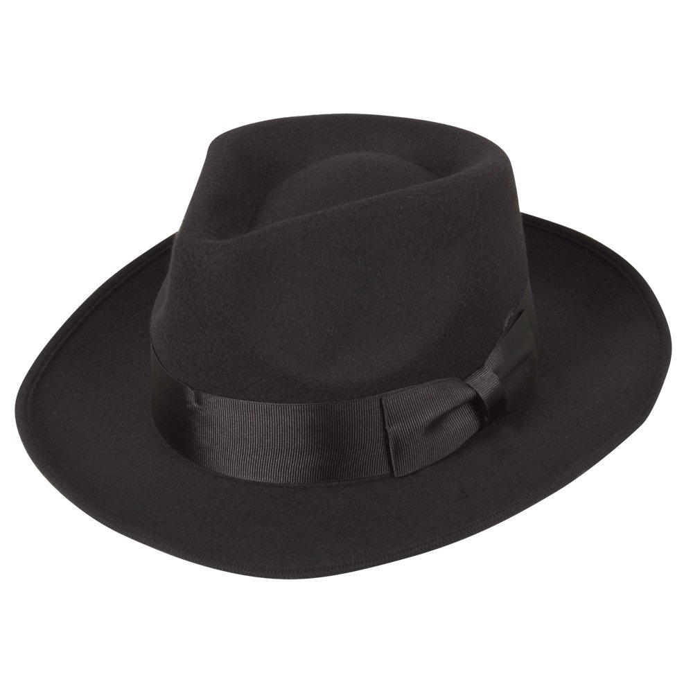 1940s Men's Clothing Classic 1940s Gangster Mafia Al Capone New York Felt Fedora Style Hat New £13.52 AT vintagedancer.com