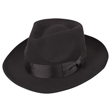 Classic 1940 s Gangster Mafia Al Capone New York Felt Fedora Style Hat New 44cba937fab