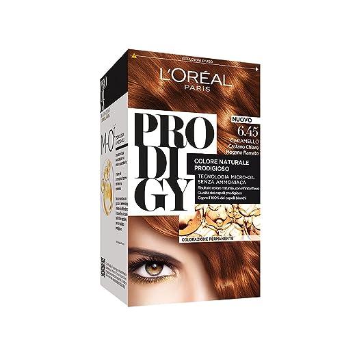 23 opinioni per L'Oréal Paris Prodigy Colorazione Permanente, 6.45 Caramello Castano Chiaro