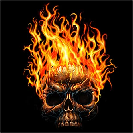 Fire Skull 5D Diamond Painting Kits Embroidery Full Drill DIY Cross Stitch Decor