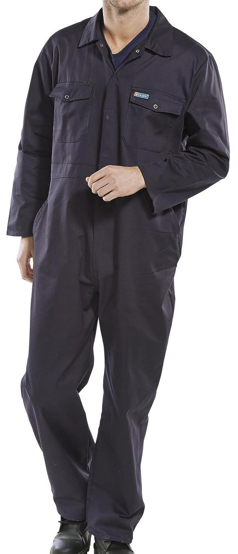 Ropa de trabajo del distribuidor general Fijaci/ón el/ástica lateral y broches grandes color azul Marino