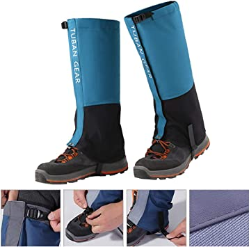 1 Pair Hiking Walking Gaiters Sand Proof Waterproof High Leg Shoes Cover