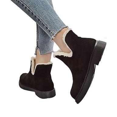 19f10122ff945 Amazon.com: Memela Women Winter Snow Boots Warm Ankle Mid Flat Boot ...