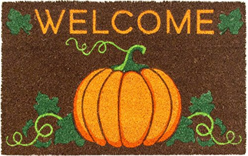 Entryways P2085 Welcome Pumpkin Non Slip Coir Doormat