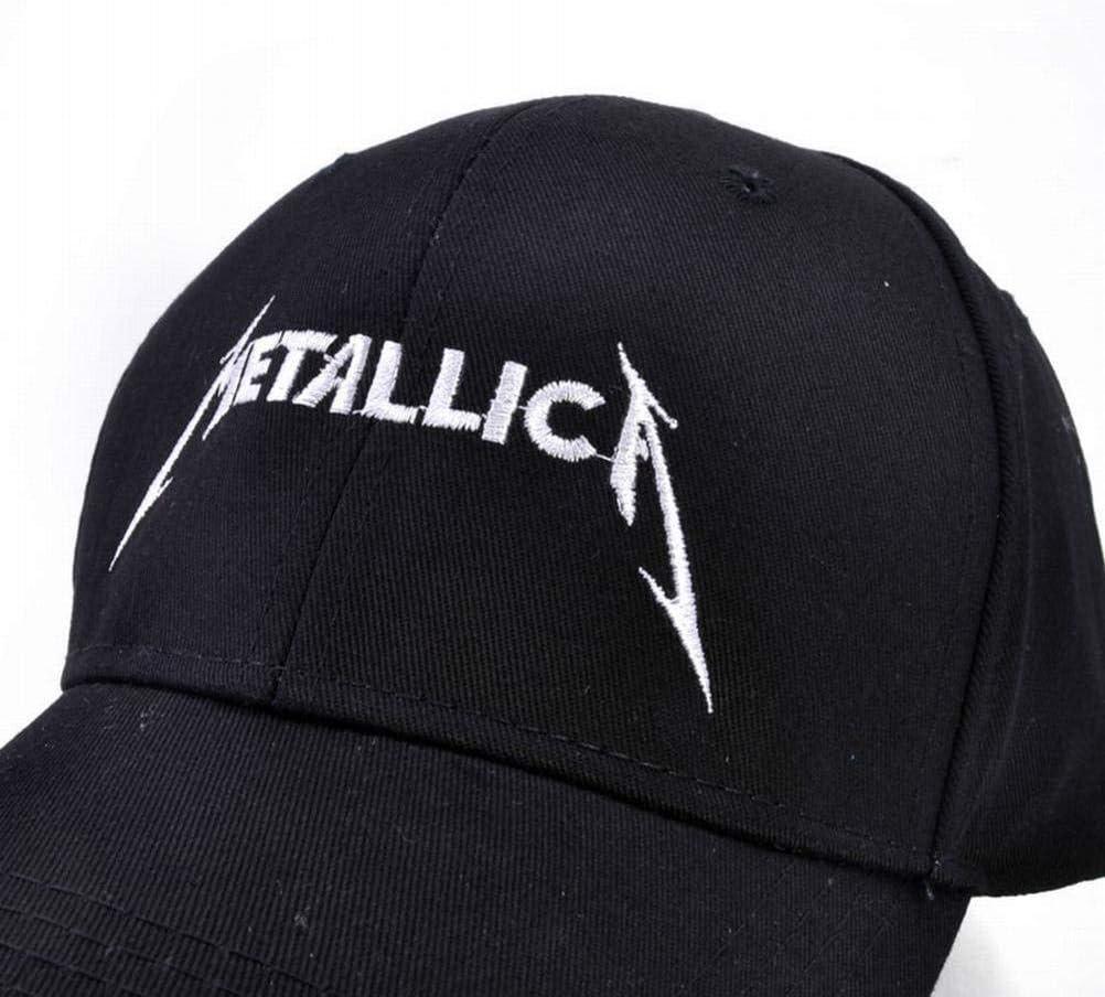 CWH-hat Gorra de B/éisbol Bordada con Letras Rock Metallica Gorra Curvada Transpirable Curvada