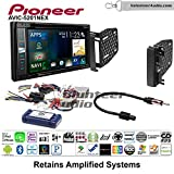 Pioneer AVIC-5201NEX Double Din Radio Install Kit with Navigation Apple Carplay Bluetooth Fits 2009-2010 Ram 2011-2014 Chrysler 200