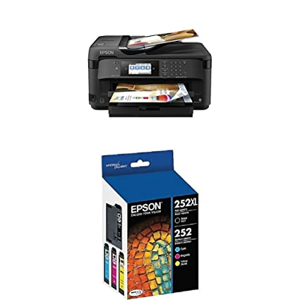 Epson (WF-7710) Inkjet Printer with C/M/Y Standard Capacity Cartridges