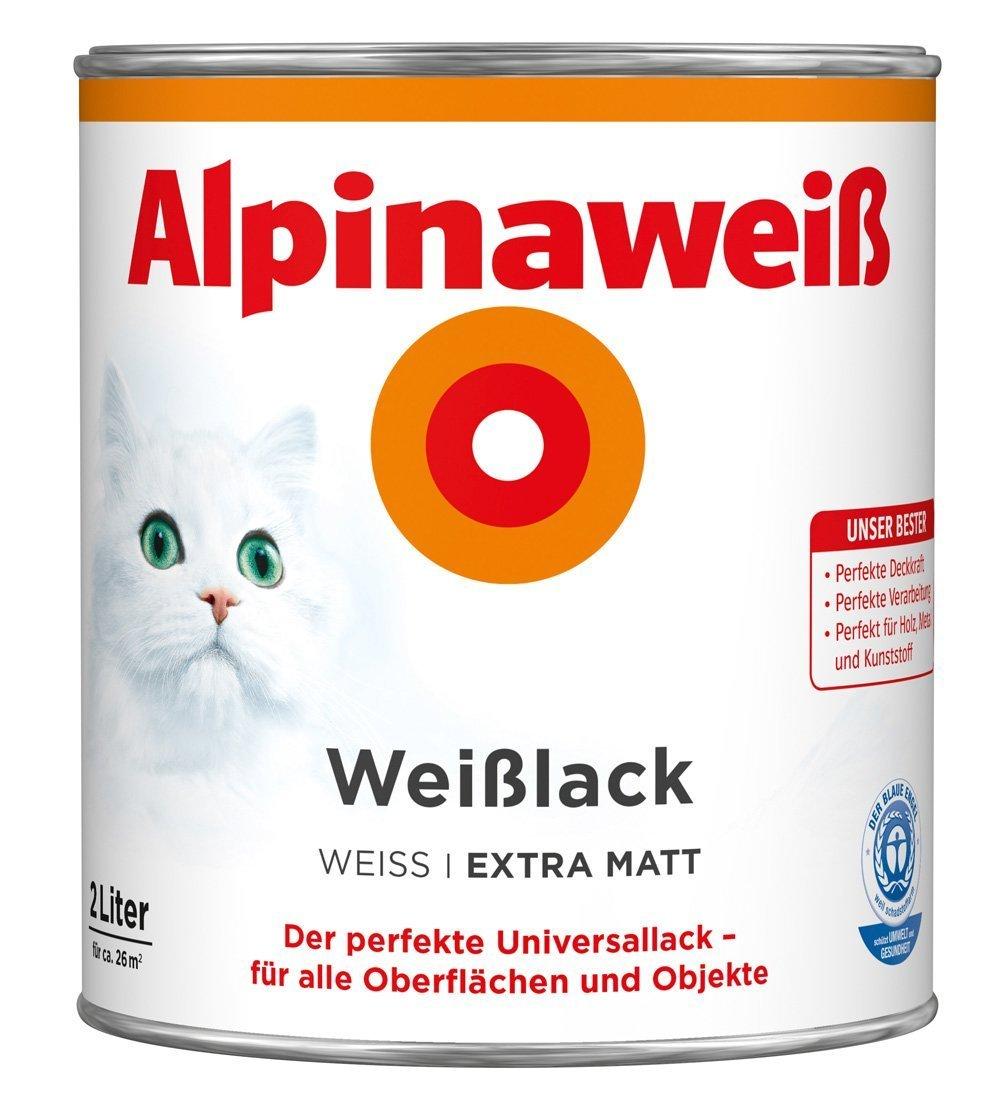 ALPINA Alpinaweiss Lack Farbe Weisslack weiß 2, 0 Liter EXTRA Matt DAW SE - Geschäftsbereich Alpina