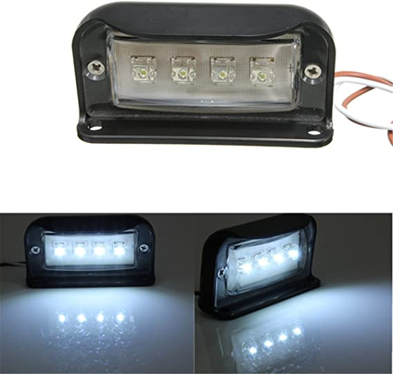 Solmore 4 Led Kennzeichenbeleuchtung Nummernschildbeleuchtung Motorrad Kennzeichen Licht Lkw Anhänger Wasserdicht 1000lm Auto