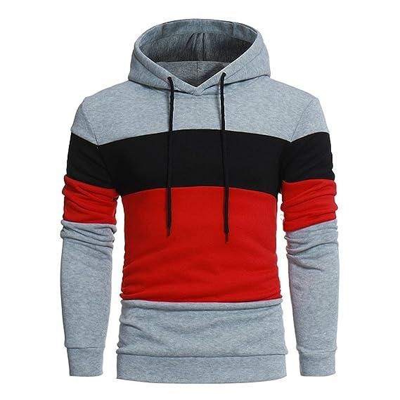 Sweatshirt Homme, Covermason Sweat Homme Pull Hiver Sweat à Capuche Slim  Pull à Capuche Chaud c0425c98b24a