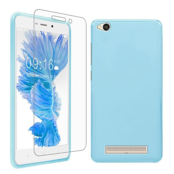 cheaper 4393c 1df9a Gzerma for Xiaomi Redmi 4A Case with Screen Protector, Soft Scratch  Resistant TPU Phone Shell Cover and High Definition (HD) Clear, Easy to  Install ...