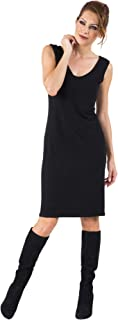 product image for Eva Varro Women's S/L V Neck Dress