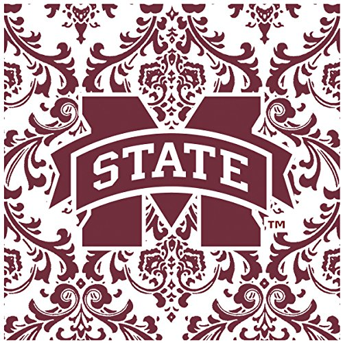 Thirstystone Occasions Square Trivet, Mississippi State University, Multicolor (Mississippi State Bulldogs Clocks)
