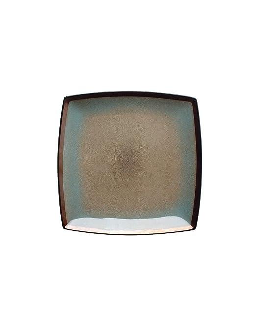StudionFun Tazón de cerámica, Plato Cuadrado/Disco de Pasta/Plato ...