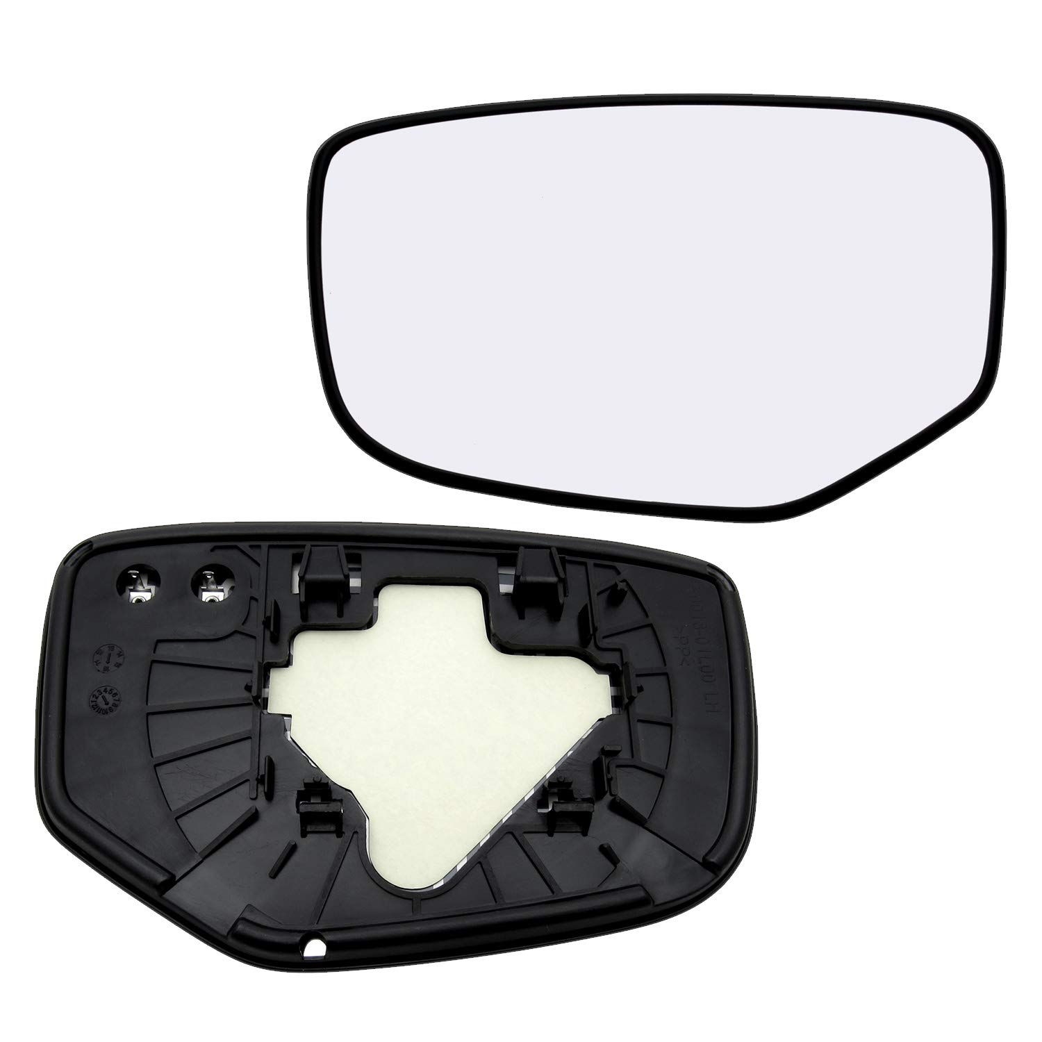 New Replacement Driver Side Mirror Heated Glass W Backing Compatible With 2008-2012 Honda Accord Sold By Rugged TUFF