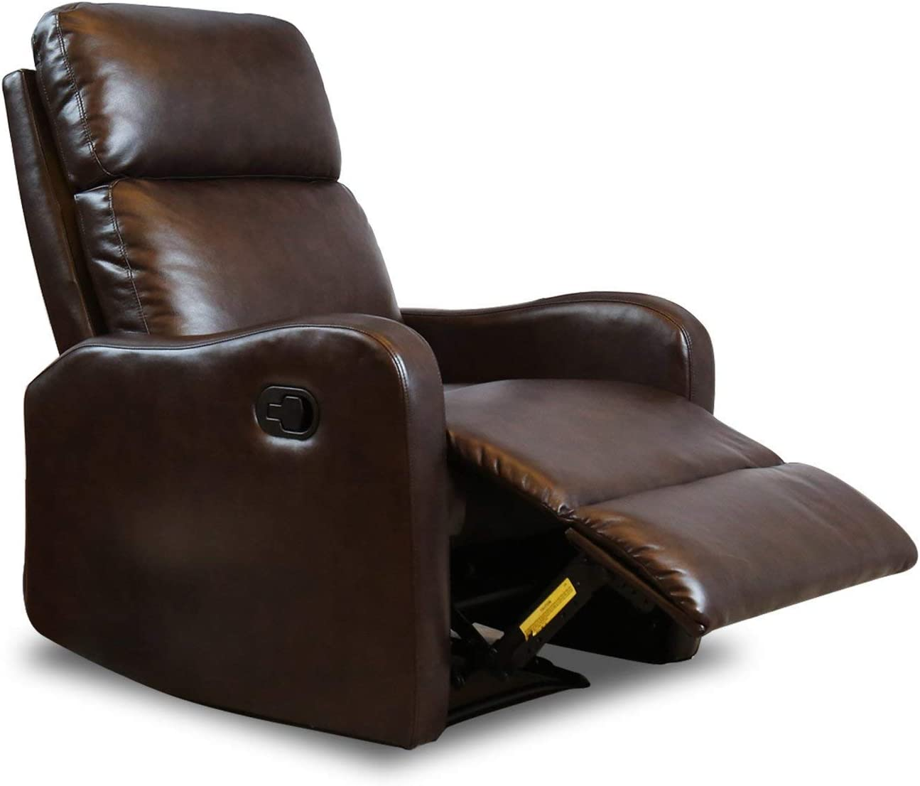 Bonzy Recliner Chair Contemporary Leather Recliner for Modern Living Room Chocolate