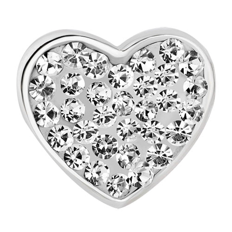 Colgantes Pugster MUm luz blanco claro translúcido diseño de corazón con cristal