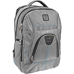 Gung-Ho Padded Laptop Backpack, Laptop Sleeve Measures 4.5in x 10in x 1in, Grey