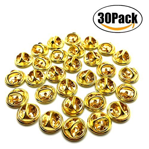 ld Comfort Fit Butterfly Clutch Metal Pin Backs Replacement (Gold) (Badge Military Hat)