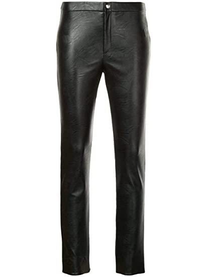 b0a61ecb5a9 ISABEL MARANT ÉTOILE Women's Pa073318a008e01 Black Polyurethane Pants:  Amazon.co.uk: Clothing