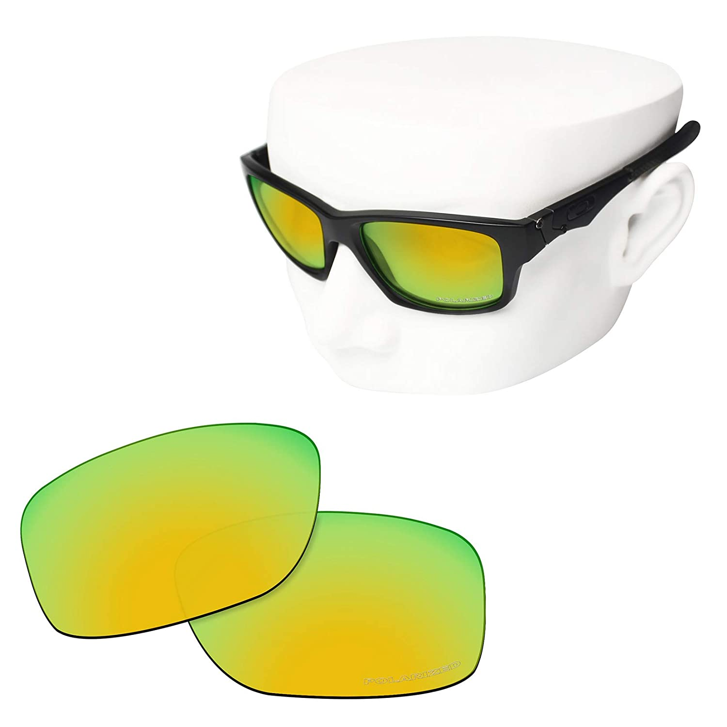 f53e05123b Amazon.com  OOWLIT Replacement Lenses Compatible with Oakley Jupiter  Squared Sunglass 24K Combine8 Polarized  Clothing