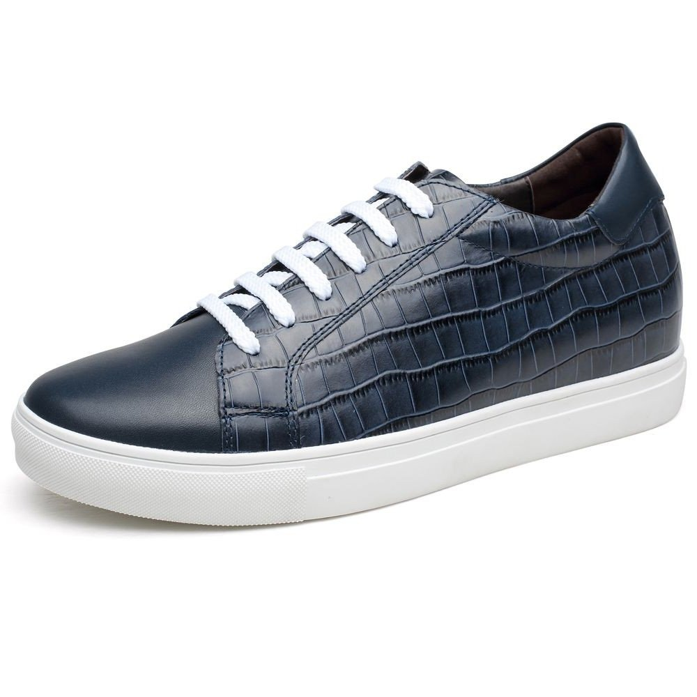 CHAMARIPA Height Increasing Elevator Men Canvas Skateboard Shoes 2.36 inches L71C55V033D US8