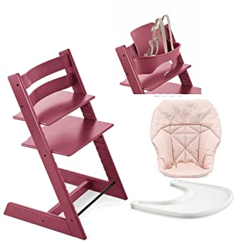 Astonishing Amazon Com Stokke High Chair Heather Pink Bundle With Caraccident5 Cool Chair Designs And Ideas Caraccident5Info