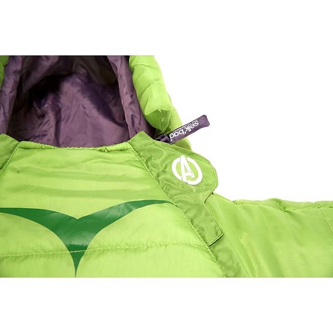 SELKBAG Saco de dormir Modelo KIDS INCREÍBLE HULK,Talla M: Amazon.es: Deportes y aire libre