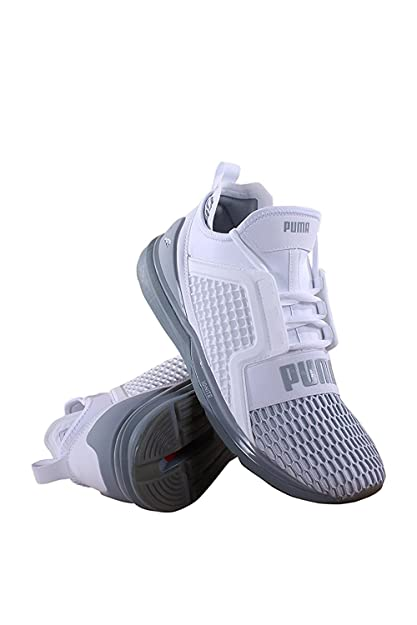 Puma Mens Ignite Limitless Colorblock Running Shoes - Puma White-Quarry  Size 11.5  Amazon.co.uk  Shoes   Bags d486a077c