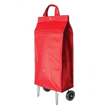PERIGOT CUSR203 - Bolsa con ruedas para hacer la compra (plegable), color rojo: Amazon.es: Hogar