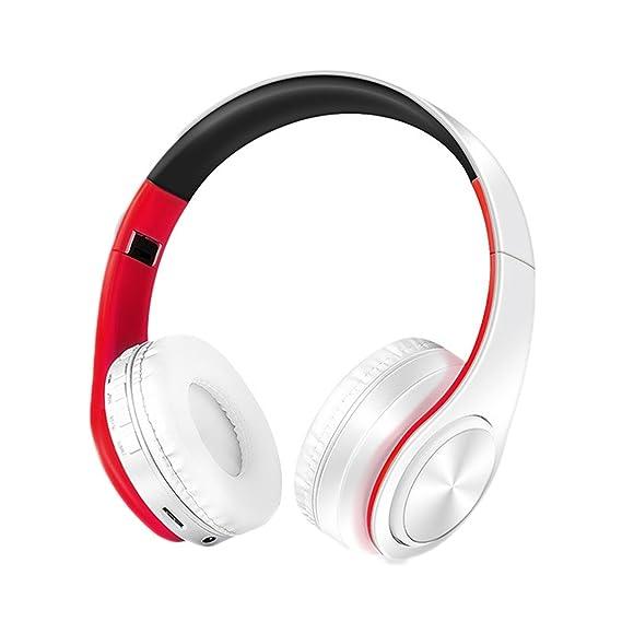 Auriculares inalámbricos, KINGCOO portátil ajustable Bluetooth estéreo auriculares con micrófono para iPhone iPad Samsung teléfonos inteligentes ...