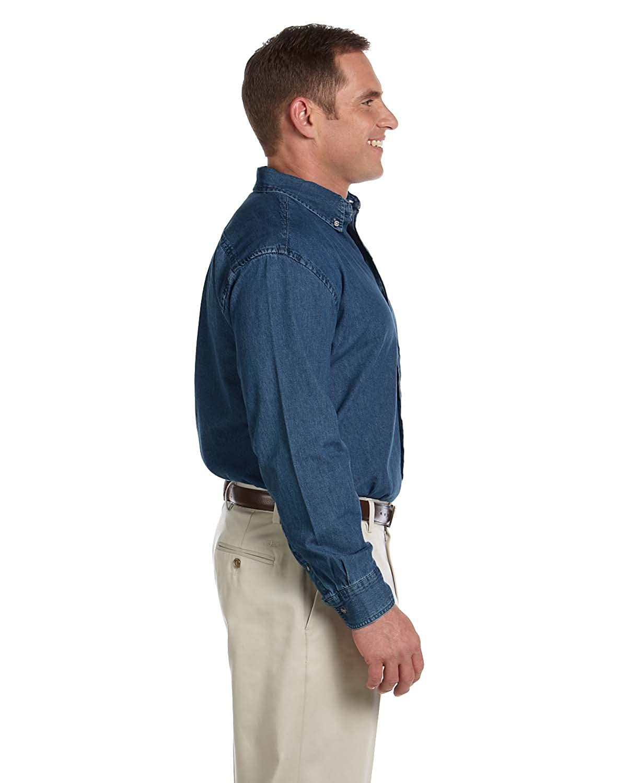 Mens Long-Sleeve Denim Shirt M Mens 6.5 oz Long-Sleeve Denim Shirt DARK DENIM