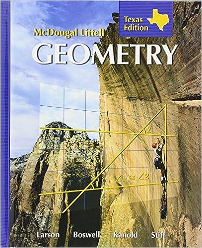 McDougall Littell Geometry Texas Edition