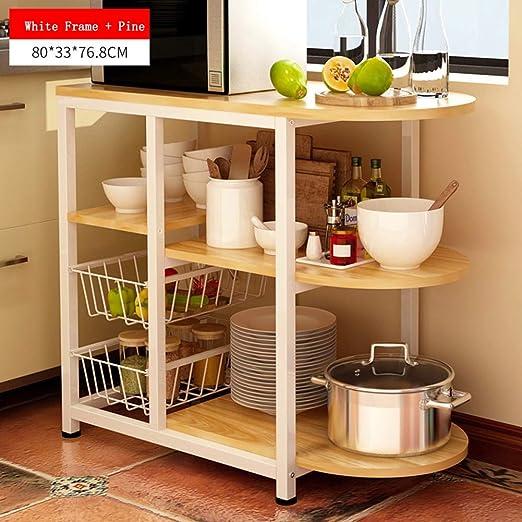 Estante de almacenamiento de cocina de 3 niveles Soporte para ...