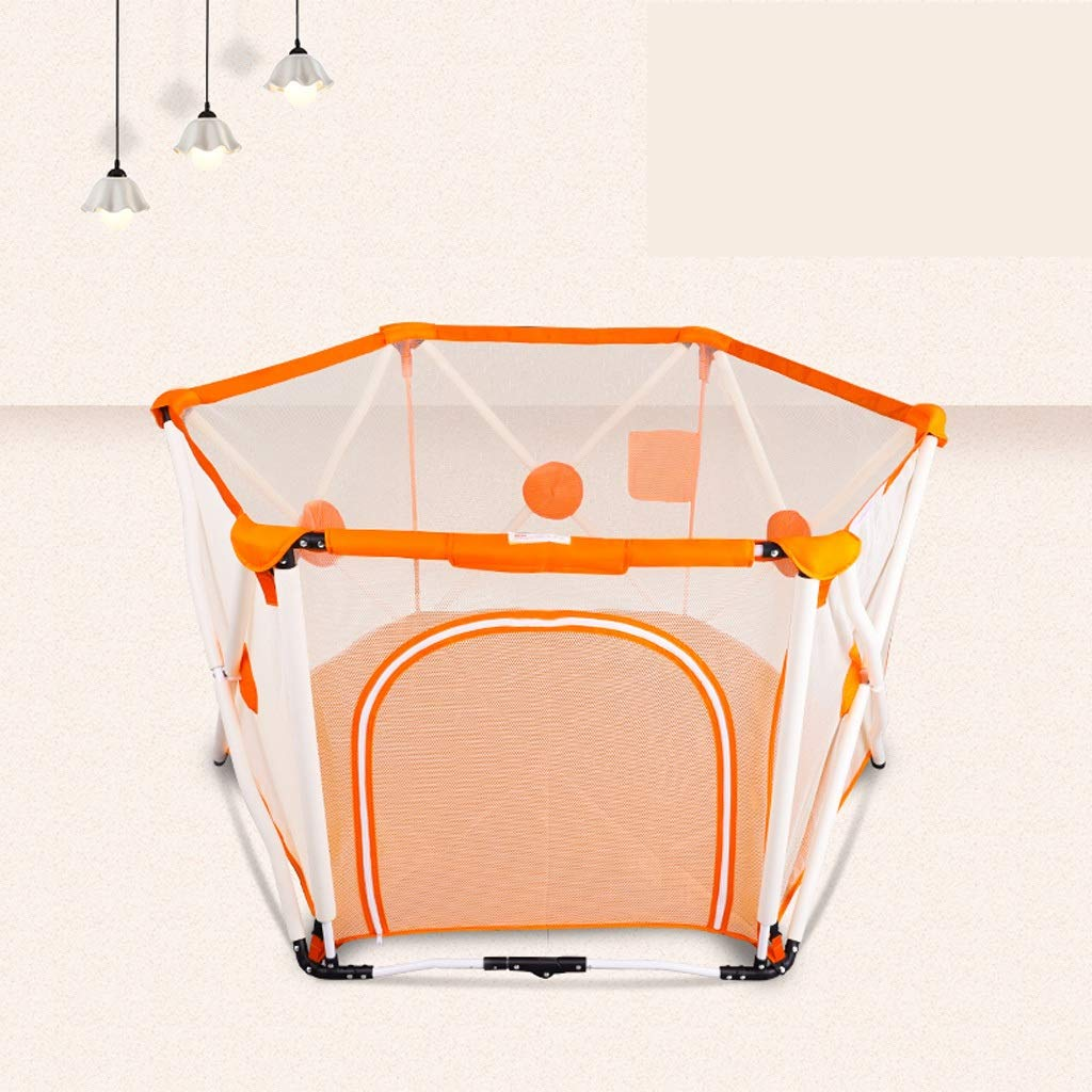 赤ちゃんの幼児のフェンスの赤ちゃんの子供屋内の遊びのフェンスの安全な家の折り畳みのマリンボールプール JSFQ (Color : Orange)  Orange B07T96H5K2