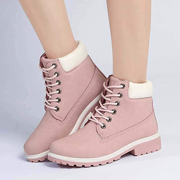 Amazon.com | Designer Winter Ankle Snow Boots Female Warm Fur Martin Boots Lace Up Bota Feminina Botas | Boots