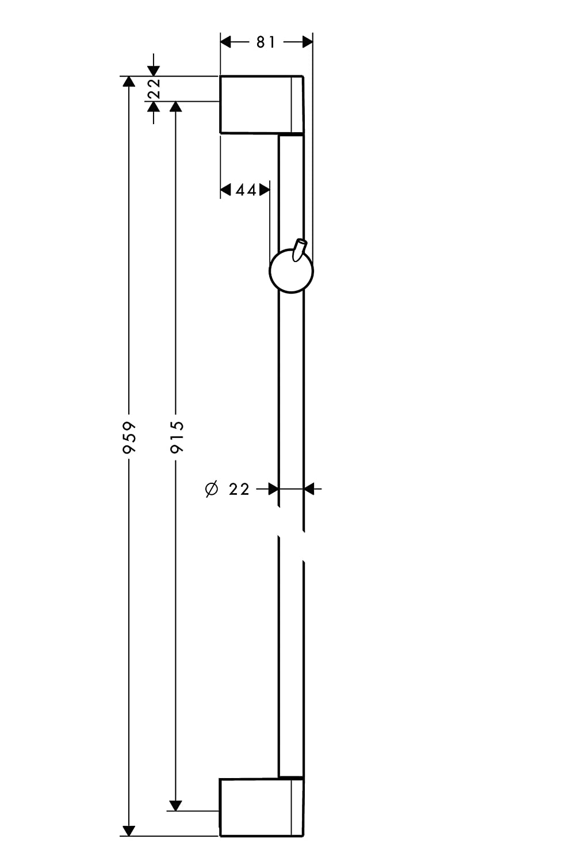 chrom hansgrohe UnicaCrometta Brausestange 0,65m mit Brauseschlauch 1,60m