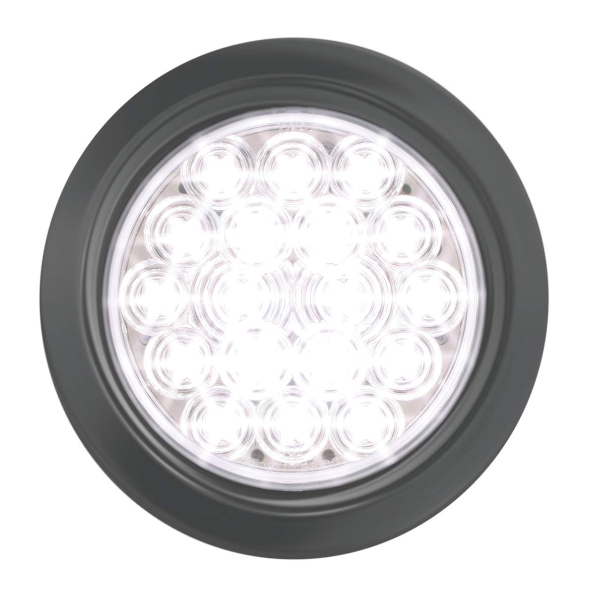 GG Grand General 76458 LED Light (4'' Fleet Red/Clear 18 with Grommet and Pigtail)