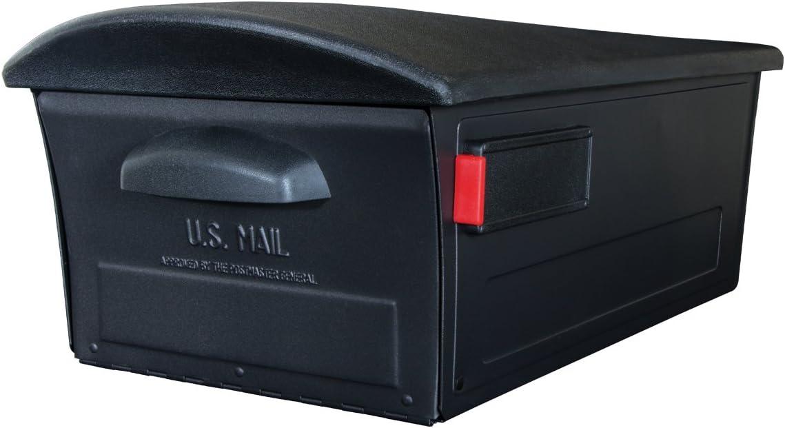 NEW Large Gibraltar Roughneck Post-Mount Wide Parcel Flag Black Mailbox Mail Box