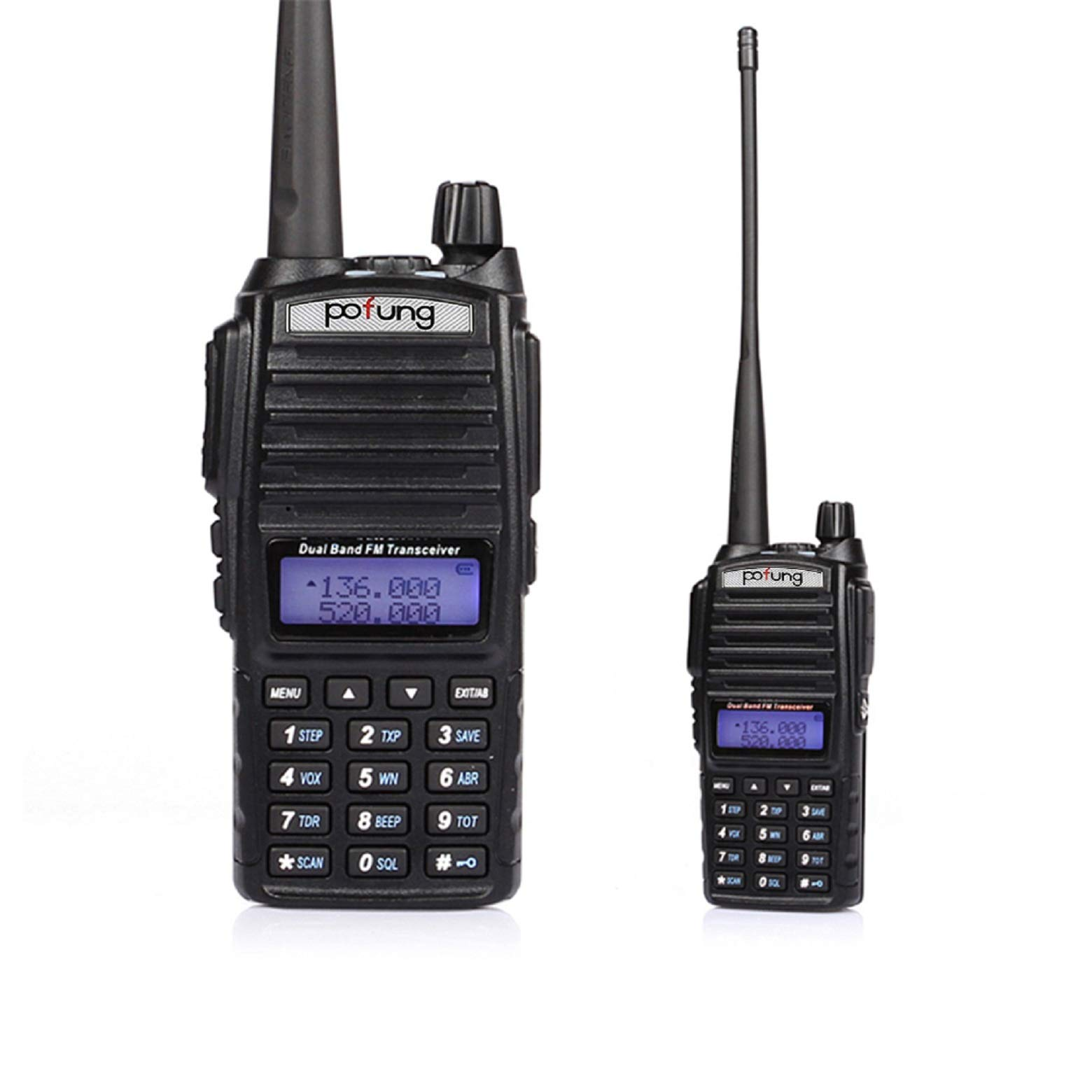 BaoFeng Pofung UV-82 Dual-Band 136-174/400-520 MHz FM Ham Two-Way Radio, Transceiver - 2-Pack by BAOFENG